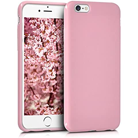 kwmobile Funda de TPU silicona chic para el Apple iPhone 6 / 6S en rosa palo mate