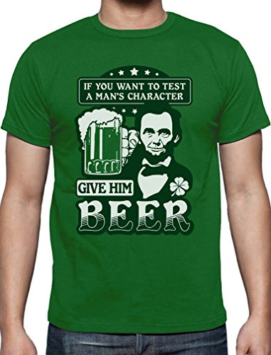 St.Patrick's Party Abe Lincoln Beer Bier Clover Kleeblatt Irish T-Shirt X-Large Grün (Bier Distressed)