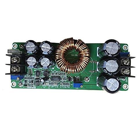 SHINA Nouveau 1200W 20A DC Boost Convertisseur de tension 10-60V à 12-80V Step-up Alimentation Transformateur Module Régulateur Contrôleur Constant Volt / Amp voiture régulée Chargeur de batterie d'ordinateur portable LED Pilote Générateur