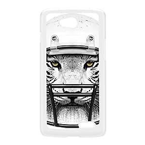 Tiger Quarterback Coque Rigide Plastique Blanc Snap-On Protection Arrière pour LG L90 de Gangtoyz + Livré avec une protection d'écran GRATUITE