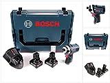 Bosch GDR 12V-105 Professional Akku Drehschlagschrauber in L-Boxx + 2 x GBA 12 V 6,0 Ah Akku + 1 x GAL 1230 Ladegerät