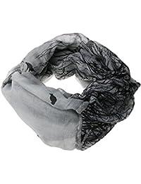 Nouveau Femmes Oiseau arbres imprimé voile boucle confort écharpe gris