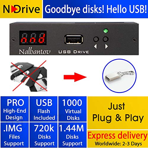 Disketten-USB-Emulator Nalbantov N-Drive 1000 für Technics SX-KN 920/3000/6500 (Akai 3000)