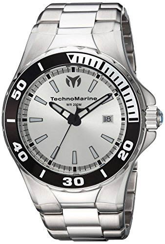 Technomarine Men's 'Manta' Quartz Stainless Steel Casual Watch, Color:Silver-Toned (Model: TM-215048)