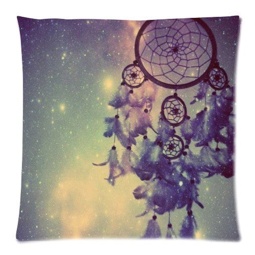 AIQIIA Dream Catcher Decorative Pillow Case Protector 18x18 Inch One Side (Bamboo Dream Catcher)