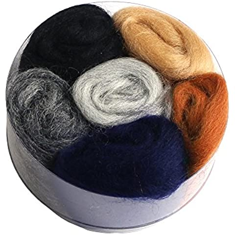 San feltro feltro di lana Set assortito a 6. colori (RWA-D) Scuro