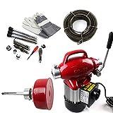 SHIOUCY Rohrreinigungsmaschine 250W 20-100mm Dia 400 U/min Professionell Rohrreinigungsgerät Rohr-Reiniger Reinigung Werkzeug