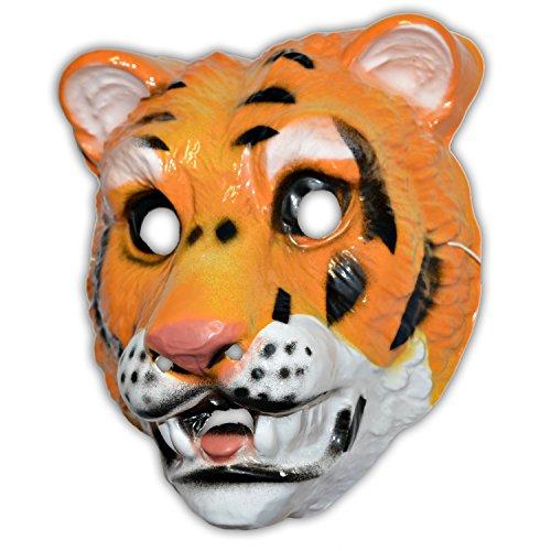 FOX MASK MEDIUM SIZE starrer Kunststoff 18 (Lion Kunststoff Maske)