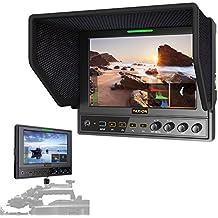 TARION M7-OP 7pulgadas(16:9) HD monitor LED backlit IPS 1280x800HDMI in/out para Nikon Canon cámara DSLR videocámara + maleta + manual y menú en español