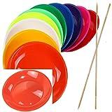 Piatti da giocoliere colorati con bacchetta in legno o con bacchetta in plastica, vari colori e quantità differenti, venduto da SchwabMarken