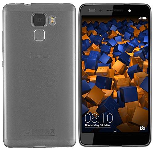 mumbi UltraSlim Hülle für Huawei Honor 7 / Honor 7 Premium Schutzhülle transparent schwarz (Ultra Slim - 0.55 mm)