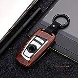 LUOERPI Couverture de Caisse de clé de Voiture en Alliage de Fibre de Carbone, pour BMW 520 525 f30 f10 F18 118i 320i 1 3 5 7 séries X3 X4 M3 M4 M5 Style de Voiture