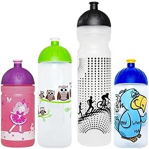 ISYbe Original Marken-Trink-Flasche für Klein-Kinder, 500 ml, BPA-frei, Girl Things-Motiv für Mädchen, für Schule-Reisen-Kita-Kiga-Outdoor, Auslaufsicher auch mit Sprudel, Spülmaschine-fest /-geeignet