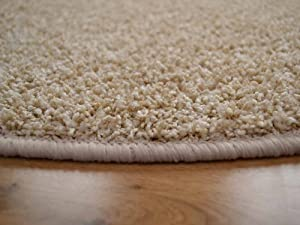 Cargo Circular Suede Shaggy Pile Rug. Available in 5 Sizes by Rugs Supermarket
