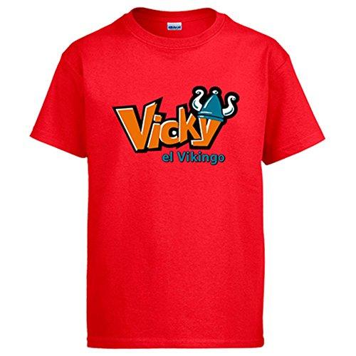Diver Camisetas Camiseta Vickie el Vikingo - Rojo, L