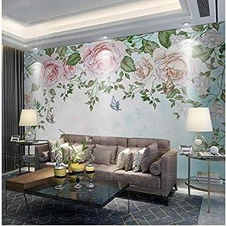 Qwerlp 3D Wallpaper Benutzerdefinierte Fototapete Vlies Retro Blumen Blütenblätter Tv Hintergrund Wand 3D Malerei Wohnzimmertapete Für Wände 3D-200X140CM