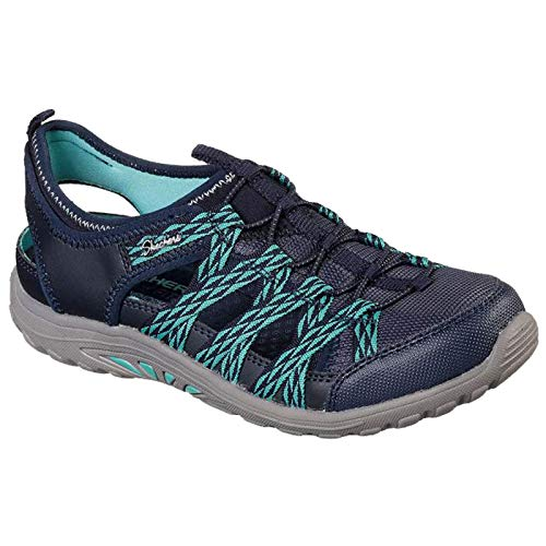 Skechers Ladies Reggae FEST Squirt Navy/Teal Trail Shoe Sandals 49445/NVTL-UK 8 (EU 41) - Skechers Fest Reggae