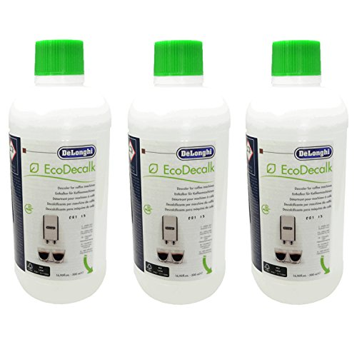 3er Pack DeLonghi Entkalker EcoDecalk für Kaffevollautomaten DLSC500 / 8004399329492 - 500ml