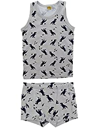 CeLaVi Boys' Underwear Set, Tank Top and Shorts, 4530