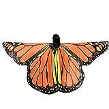 MRULIC Kinder Schmetterlingsflügel Jungen und Mädchen Kostümzubehör Weihnachten Trenchcoat Im Freien Drachen Fliegen Mantel Schal Damen Poncho Karneval heißen Jacken(B10-Orange,235 * 170CM)