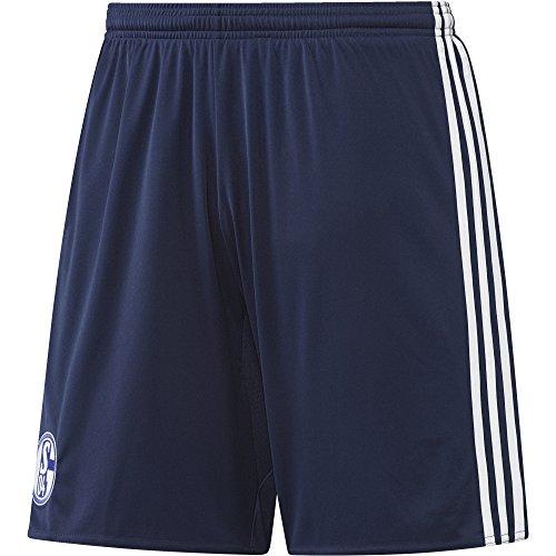 adidas Herren Schalke 04 Shorts, Dark Blue/White, XL (Cord-gestickte Shorts)
