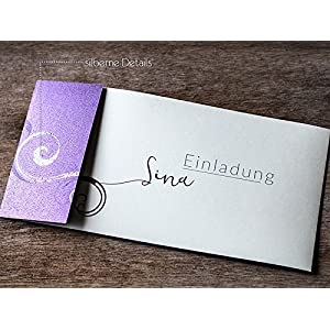 Einladung Karte Jugendweihe Konfimation lila