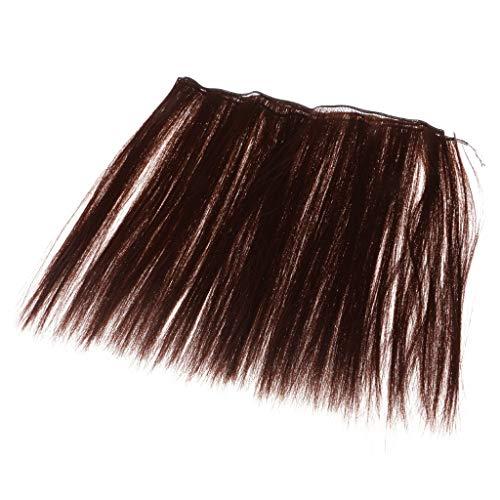 perfeclan 25x100cm Puppenzubehör Puppenhaar Lange Glatte Haare Perücke - Auburn (Auburn Perücke Haar)
