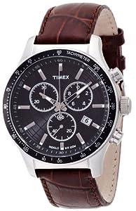 Reloj TIMEX Timex de cuarzo para hombre con correa de piel, color marrón de TIMEX