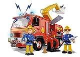 Simba 109257661 - Feuerwehrmann Sam Jupiter Feuerwehrauto mit 2 Figuren, 28 cm für Simba 109257661 - Feuerwehrmann Sam Jupiter Feuerwehrauto mit 2 Figuren, 28 cm