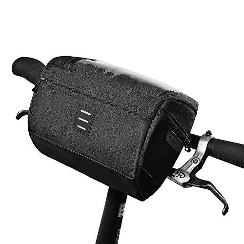 wotow Bike Lenkertasche, handbar Aufbewahrungskorb Tasche Mountain Road MTB Fahrrad Frontrahmen Bag Biking Touchscreen Handy Halter Tasche Transparent Paar Wasser Widerstand für Cycle Outdoor Activity