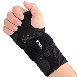 EXski Wrist Splint Support Hand Brace Compression for Carpal Tunnel Fracture Sprain RSI Arthritis NHS Night Use Left Right