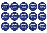 #9: Team Groom Pin Badges (Pack of 15)