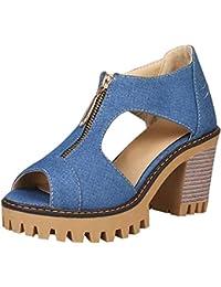 Amazon.it  Jeans - 0 - 20 EUR   Sandali   Scarpe da donna  Scarpe e ... b8ee66074f6
