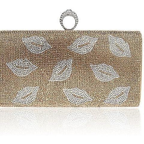 Da Wu Jia Ladies borsetta di alta qualità delle donne di lusso elegante high-grade labbra diamante Borsa serale , argento