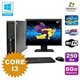 Pack PC HP Compaq 6200 Pro SFF Core i3 3.1GHz 8gb 250GB DVD WIFI W7 + Bildschirm 19