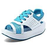 Hishoes Damen Sommer Atmungsaktiv Mesh Sport Outdoor Sandalen Fitnessschuhe Gesundheitsschuhe Offene Zehen Sneakers