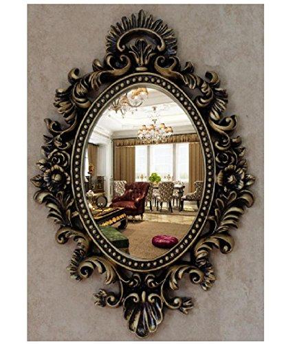 Xiuxiandianju Decorazione parete Retro Specchio Specchio Specchio europea Dresser bacino vestire specchio dello specchio di (Camera Ovale Dresser)