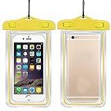 ILOVEDIY Wasserdichte Handyhülle Schützhülle für iPhone Samsung Huawei viele Smartphone (Gelb)