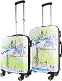normani ABS Reisekoffer Koffer Trolley 71 Liter in verschiedenen Farben Farbe New York