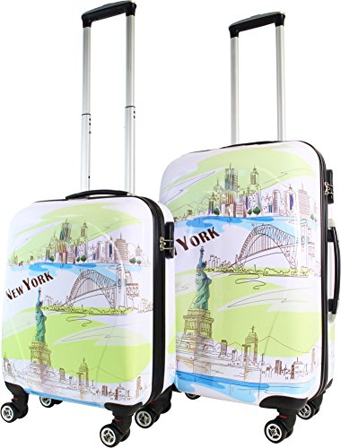 Trolley-Kofferset Ultra-Light mit 4 Rollen, 2tlg. Farbe New York