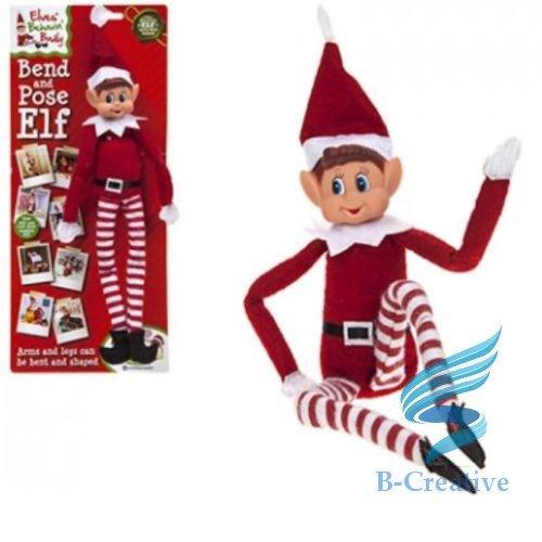 B-Creative Weihnachten Naughty elf Requisiten Kamera Bett Bunting Kartentisch Schlüssel Countdown Bag (Beweglich elf Mädchen)