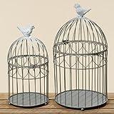 2er Set Käfig als Dekoration, aus Metall Farbe: grau 1043900