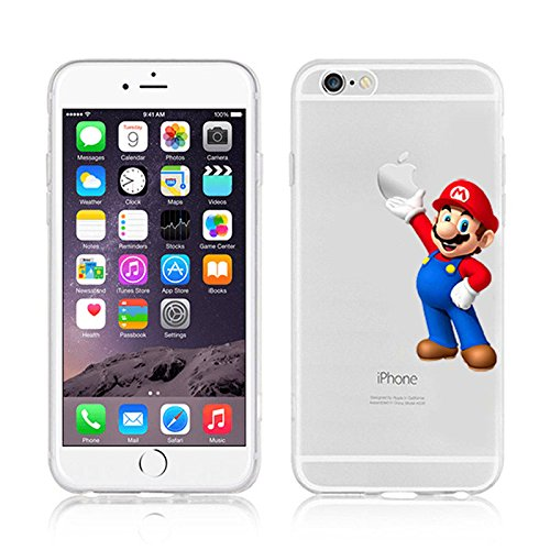 NEW DISNEY CARTOONS TRANSPARENT CLEAR TPU SOFT CASE FOR APPLE IPHONE 8 SUPERMAN MARIO 3