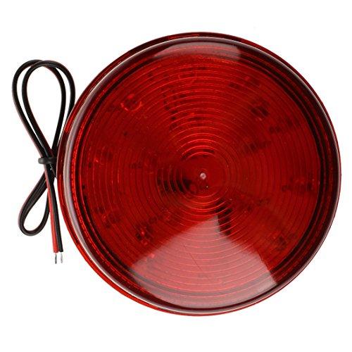 Sonline Alarm Licht Rot LED Warnlicht Strobe DC12V fuer Sicherheit Signalgeber NEU fuer das Sicherheits und Heimautomationssystem