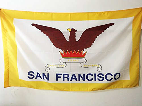 AZ FLAG Flagge SAN Francisco 90x60cm - SAN Francisco Fahne 60 x 90 cm Scheide für Mast - flaggen Top Qualität San Francisco Flag