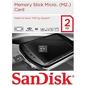 MemoryStick Micro 2GB Gaming Card für PSP Go!