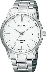 Pulsar Uhren PS9049X1 - Reloj analógico para caballero de acero inoxidable blanco de Pulsar Uhren