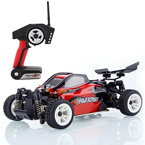 Metakoo RC Coches Carrera 4WD de Velocidad 40km/h Escala 1:24 Juguete 100 Metros de Radiocontrol Coche Electrico niño con mando -