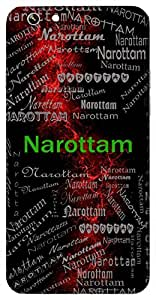 Narottam (Best Amongst Men, Lord Vishnu) Name & Sign Printed All over customize & Personalized!! Protective back cover for your Smart Phone : Motorola Moto - G ( 1st Gen )