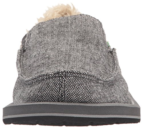 Sanuk Vagabond Chill Toile Mocassin Charcoal Wool Fleck